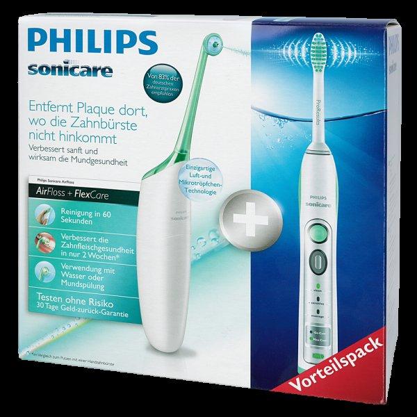 [brands4friends.de] PHILIPS Sonicare AirFloss + FlexCare im Vorteilspack, weiß inkl. Vsk für 109 €