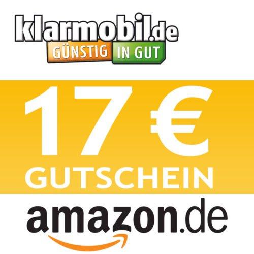 """4,95€ Klarmobil SIM-Karte +15SGH + 17,00 € AMAZON Gutschein kostenlos """"Ebay"""