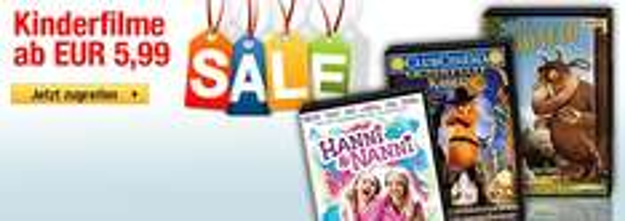 Günstige Kinderfilme - Pippi, Sams, Hanni & Nanni u.v.m. ab EUR 5,99@www.buecher.de
