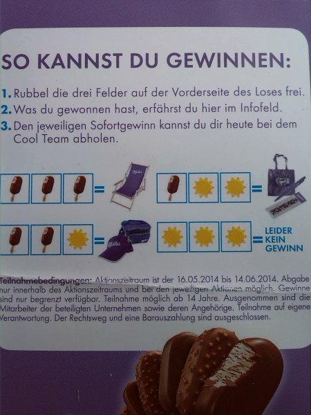 [Lokal Frankfurt] Milka Eis gratis + Chance auf Gewinn von cool items