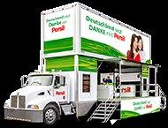 [Lokal 22 Städte] Persil Trucktour - 1 Probe Persil Color Gel (1WL) / 1€ Rabatt-Coupon / Verlosung / 1 Foto