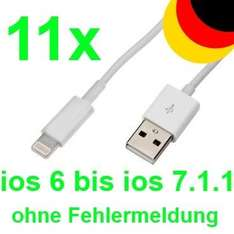 [Ebay] 11 x iphone 5 Lade Kabel 5S 5C Ipad 4 Air mini Ipod USB Datenkabel Lightning