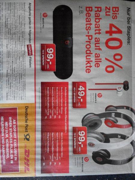 Staples Beats Solo HD 99€ und viele weitere Beats Produkte