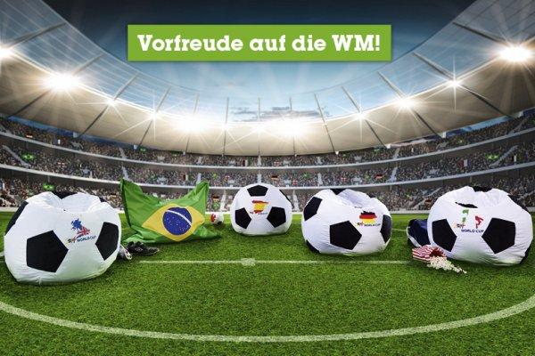[mömax] Fußball-Sitzsack ⌀ 70cm, 10 verschiedene Länder-Designs