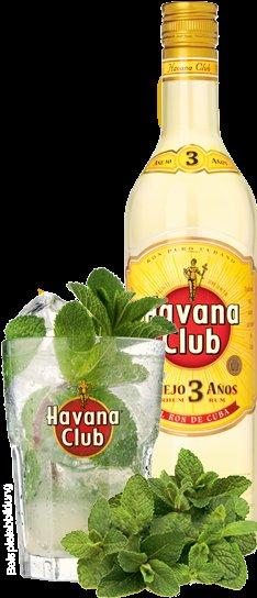 1 Flasche Havana + 6 Gläser + Zucker + Limettenpresse + Servietten + Stössel für 8€!!