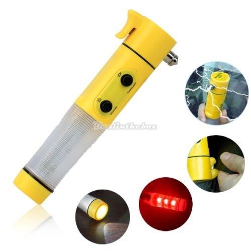 Auto Notfall 4in1 Multitool (LED, Warnleuchte, Gurtschneider, Notfallhammer) für ca. 3€ (CN)