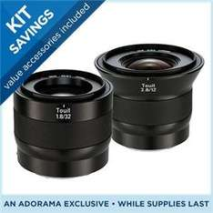 Zeiss 32mm f/1.8 + 12mm f/2.8 Touit Series Bundle für NEX