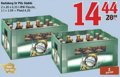 Karlsberg Ur-Pils 2x 20 x 0,33l 14,44€ + 6,20€ Pfand Globus St. Wendel