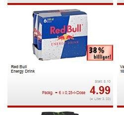[Bundesweit Kaufland] Red Bull 6er Pack für 4,99€ - 0,83 Cent/Dose - ab 02.06.14