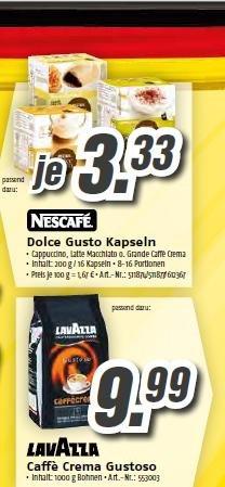 Dolce Gusto Kapseln Grande Caffe Crema Cappuccino Latte Machiatto nur 3,33 € (MediMax )