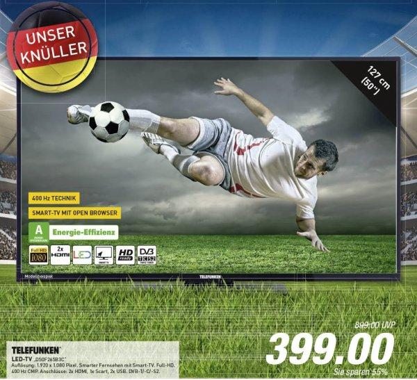 Telefunken D50F265B3C 50 Zoll (127cm) Smart TV (400 Hz CMP) für 399,00 Euro bei Marktkauf (Regional???)