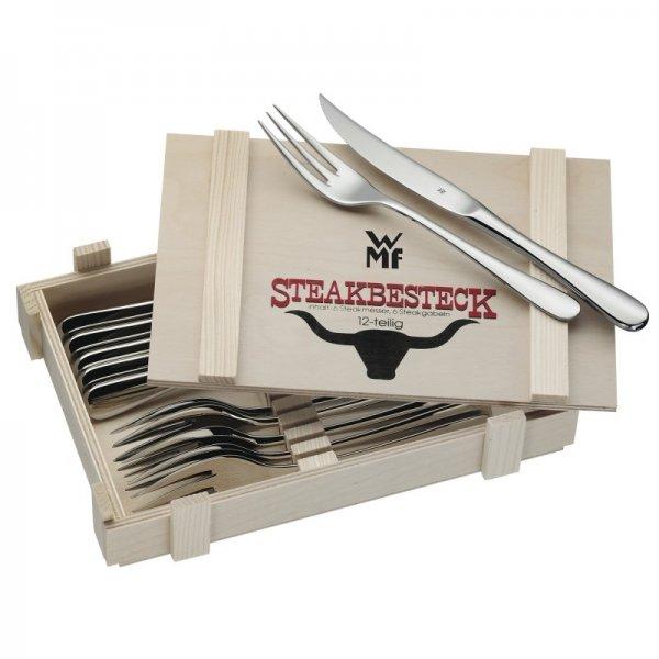 WMF™ - 12-teiliges Steakbesteck (inkl.Holzkiste) ab €29,49 [@Digitalo.de]