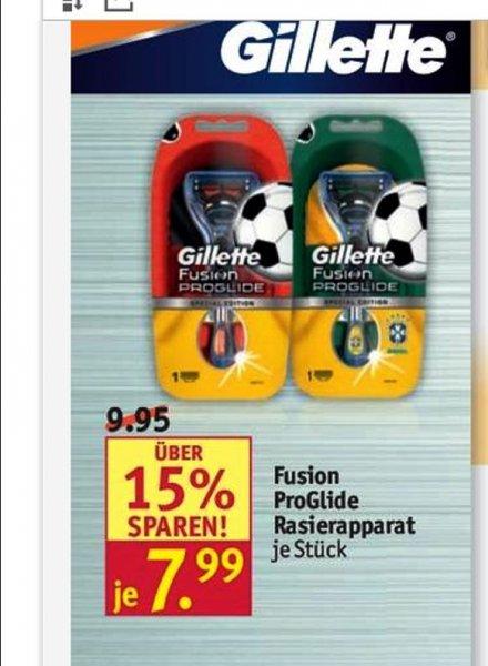 [ Rossmann ] Gillette Fusion Proglide 8€ Rabatt  beim KAuf von Rasierer + Klingen !