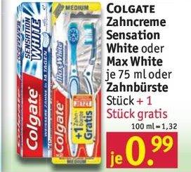 Offline Rossmann Bundesweit  Colgate Max White 2er Pack für Effektiv 0,01€ Gewinn durch Coupon!!!
