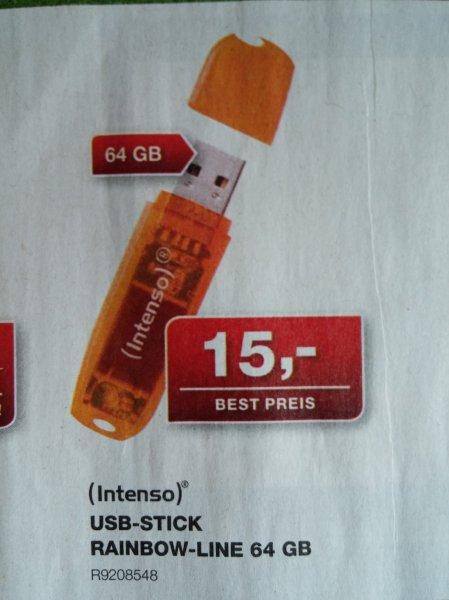 [STAPLES] USB-STICK von Intenso 64 GB für 15,00 € --DOPPELT--