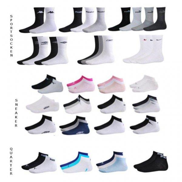 eBay WOW - 12er Pack Socken, Sneaker, Quarter - Markenware