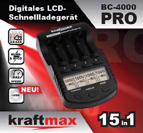 [Amazon] Kraftmax BC-4000 Pro Ladegerät - perfekt für eneloop Akkus