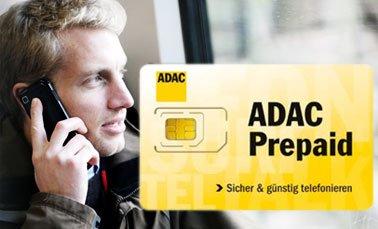 ADAC prepaid karte . Europaweit für 9cent telefonieren und umsonst angerufen werden