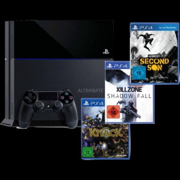 Playstation 4 + 3 spiele