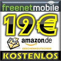 KOSTENLOS: freenetMobile SIM-Karte + 19,00 EURO AMAZON GUTSCHEIN