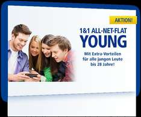 1&1 ALL-NET-FLAT YOUN für Junge Leute bis 28 mit 2 GB oder SMS Flat für 19,99