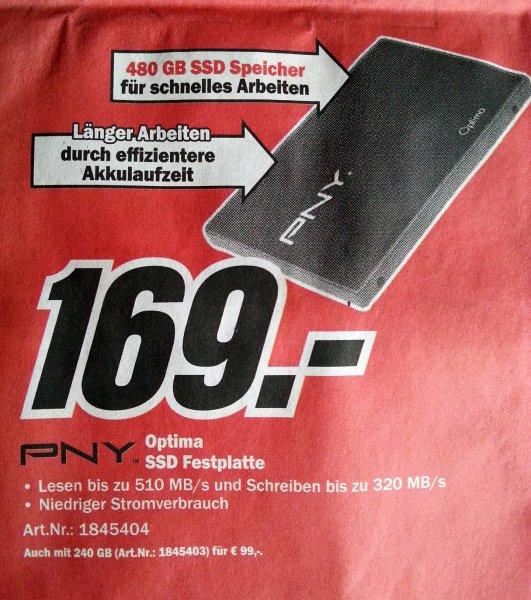 480 GB SSD | PNY Optima | MediaMarkt Online - Vergleichspreis: 206,02 € (!)