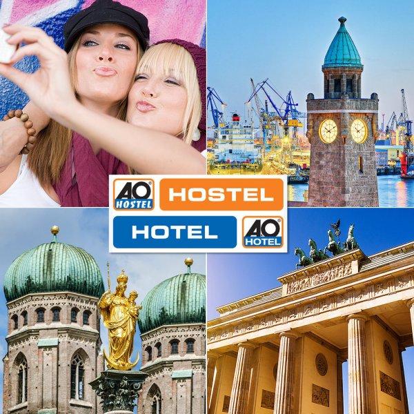 A&O TO GO Orange - 2Ü-1P - 16 Städte - 3 Länder für 19€ @ebay.de
