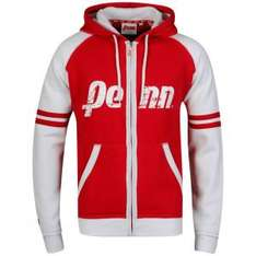[thehut] Penn Men's Zip Thru Loo Hoody - Red/White/Red leider nur in Grösse S