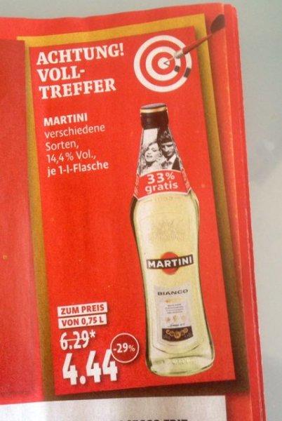 Kaisers Tengelmann - Martini (alle Sorten) 1 Liter Flasche für EUR 4,44 (bis 07.06.)
