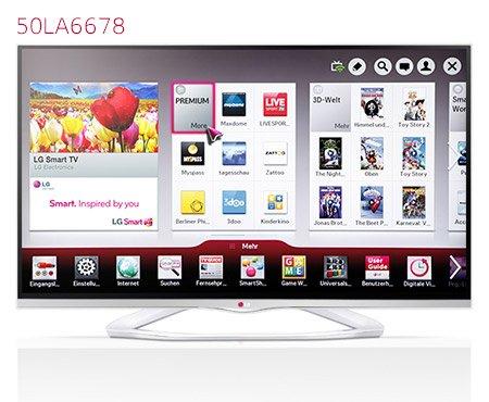 [lokal] LG 50LA6678 126 cm (50 Zoll) Cinema 3D LED-Backlight-Fernseher, weiß @Metro