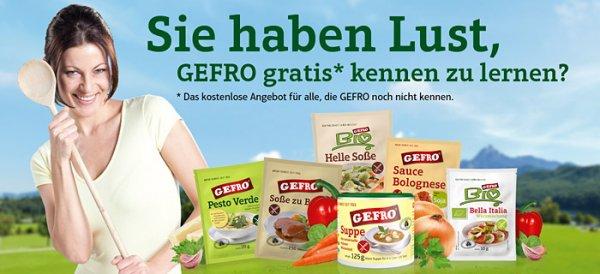 Kennenlernaktion GEFRO-Produkte