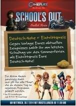 Cineplex Friedrichshafen am 30. Juli: Deutschnote = Eintrittspreis