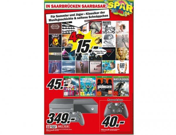 (Media Markt Offline Lokal ) XBox One + Controller / Separat erhältlich Wolfenstein: The New Order / Watch Dogs 45€