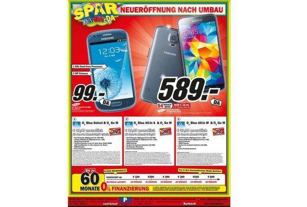 (Media Markt Offline Lokal) Samsung Galaxy S3 Mini 66121 und 66115 Saarbrücken