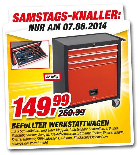 Befüllter Werkstattwagen 82 teilig (offline) Toom Baumarkt