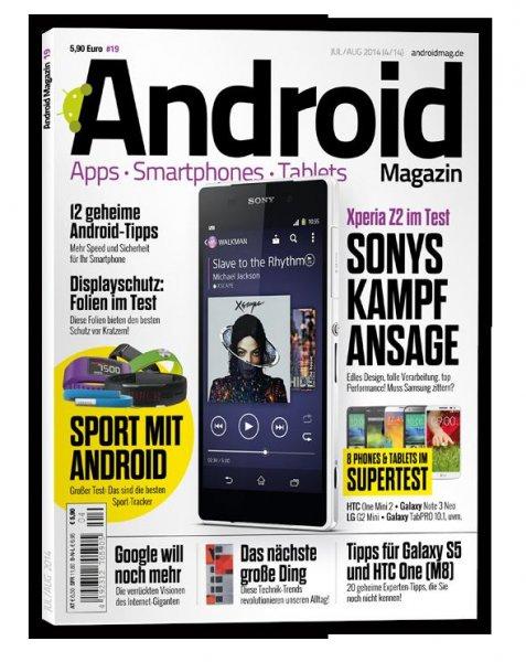 4 kostenlose Android Apps in dem aktuellen Android Magazin (Juli/Aug.) im Fachhandel