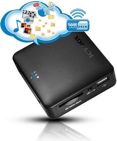 """Icy Box Kartenleser u.  WLAN- Router m. Akku  """"IB-WRP201SD"""" für 21,99€"""