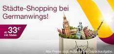 Tickets bei Germanwings ab 33 Euro