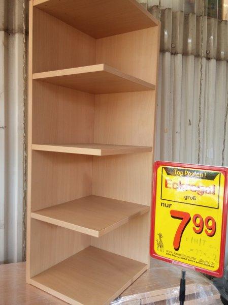[LOKAL Knüllermarkt Glinde] Eckregal aus Holz ca. 150 cm hoch  7,99 €