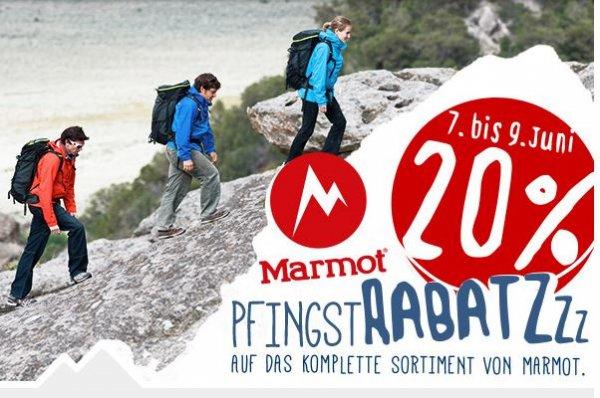 20% Rabatt auf alles von Marmot @ Bergfreunde.de