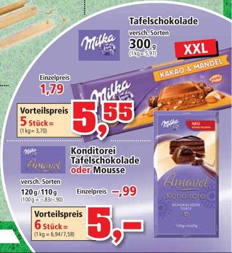 [LOKAL] Thomas Philipps--> Milka Schokolade 300g Tafeln 5 Stück für 5,55€ (1,11€ / Tafel) & Milka Konditorei Tafelschokolade oder Mouse 6 Stück für 5,00€ ( ~ 0,83€ / Tafel)