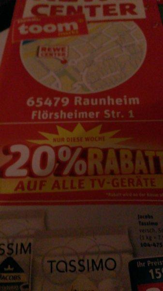 [lokal] Raunheim Rewe Center 20% auf TV u.a. Samsung UE55F6170 für ca. 616 Euro