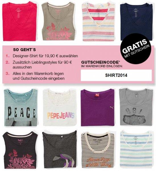 Onlineshop Outletcity Metzingen Designer-Shirt gratis (MBW 90€)