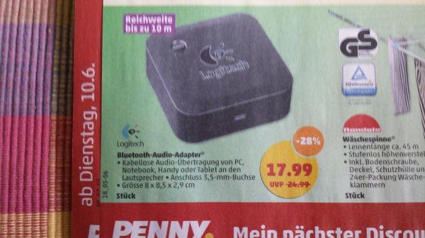 [Lokal] Logitech Wireless Speaker Adapter (BT) bei Penny ab Dienstag 10.6.