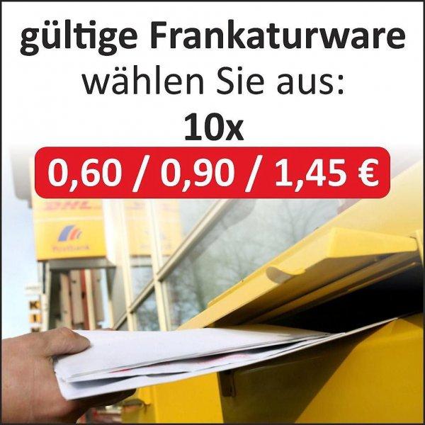 [ebay] Briefmarken 10x 0,90€ = 7,99€  // 10x 1,45€ = 12,99€