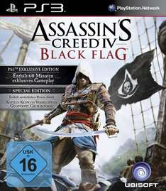 [Amazon] PS3: Assassin's Creed 4: Black Flag - Special Edition für 29,97€ (+Steelbook im Wert von 19,99€ gratis)