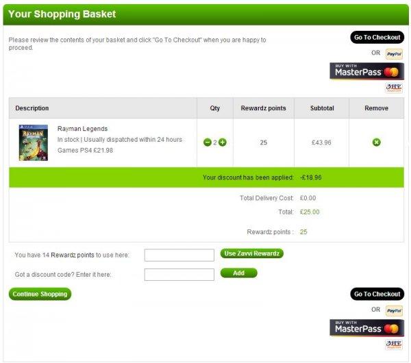 2x Rayman Legends (PS4) für £ 25 bzw. € 31 @ zavii.com