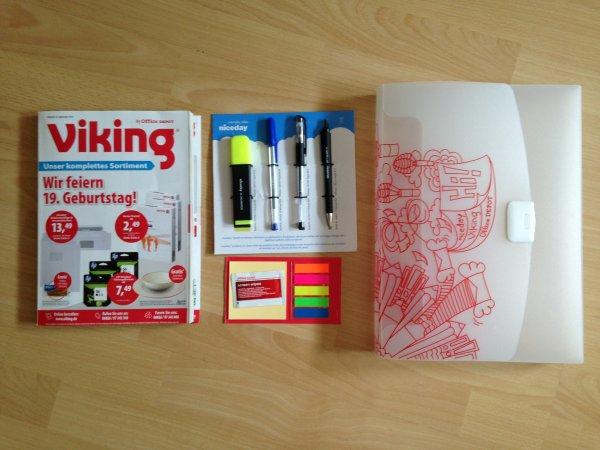 [VIKING] Kostenlose Stifte, Haftnotizen und Mappe für jeden! Ohne VSK!