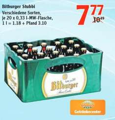 [LOKAL / GENSINGEN] Bitburger Stubbi bei Globus