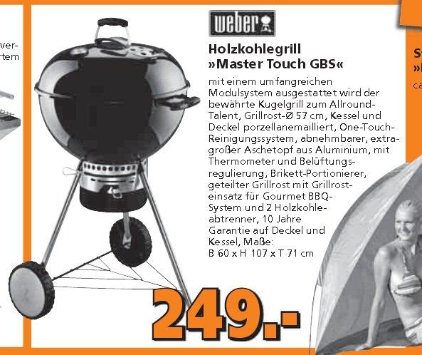 Weber Master Touch 57cm GBS Black für 219,12 EUR per BAUHAUS Tiefpreisgarantie